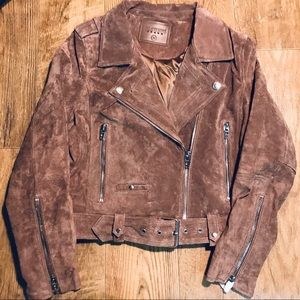 New Blank NYC Women's Natural Suede Jacket. Size M